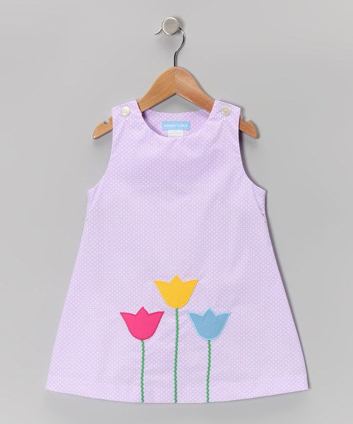 Look what I found on #zulily! Monday's Child Purple Polka Dot Tulip Jumper - Infant & Girls by Monday's Child #zulilyfinds
