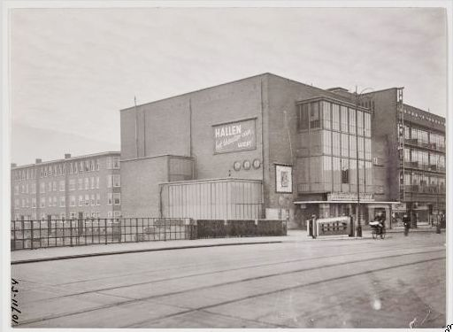1950. Cinema Hallen Theatre from the bridge on the Jan van Galenstraat. #amsterdam #1950