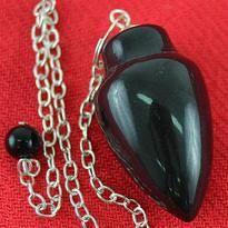 Kyvadlo - jaspis černý, hladce broušený