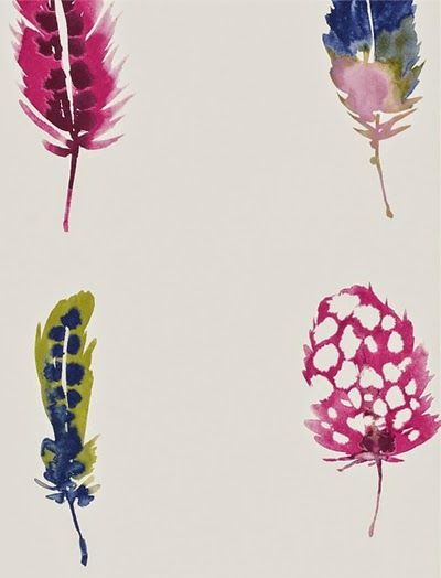 print & pattern: WALLPAPER feathers - interior design