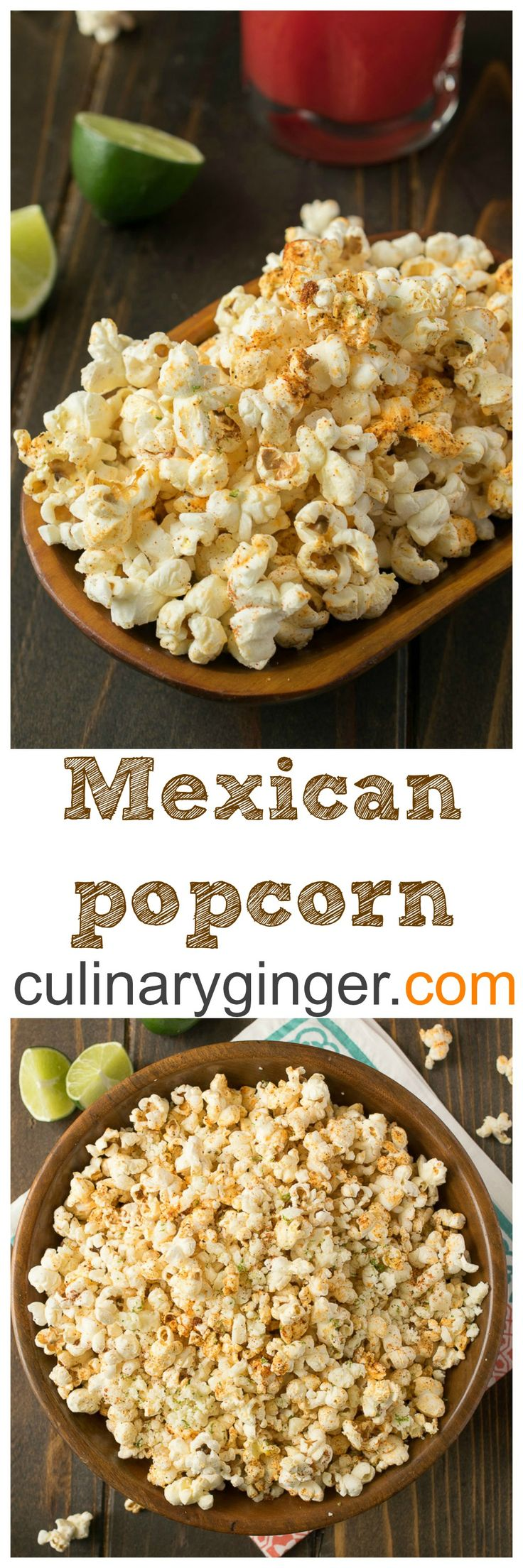 Mexican popcorn. Flavorful Mexican spices are sprinkled over warm, freshly popped popcorn and melted butter and a mixture of tangy, slightly salty cotija cheese and fresh lime zest is added for a lovely taste sensation. Perfect for celebrating Cinco de Mayo.