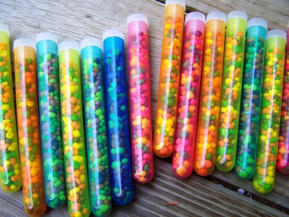 Weird Science Spunky Test Tube Nerds Boy Girl Birthday Party Favors 6pk. $10.00, via Etsy.