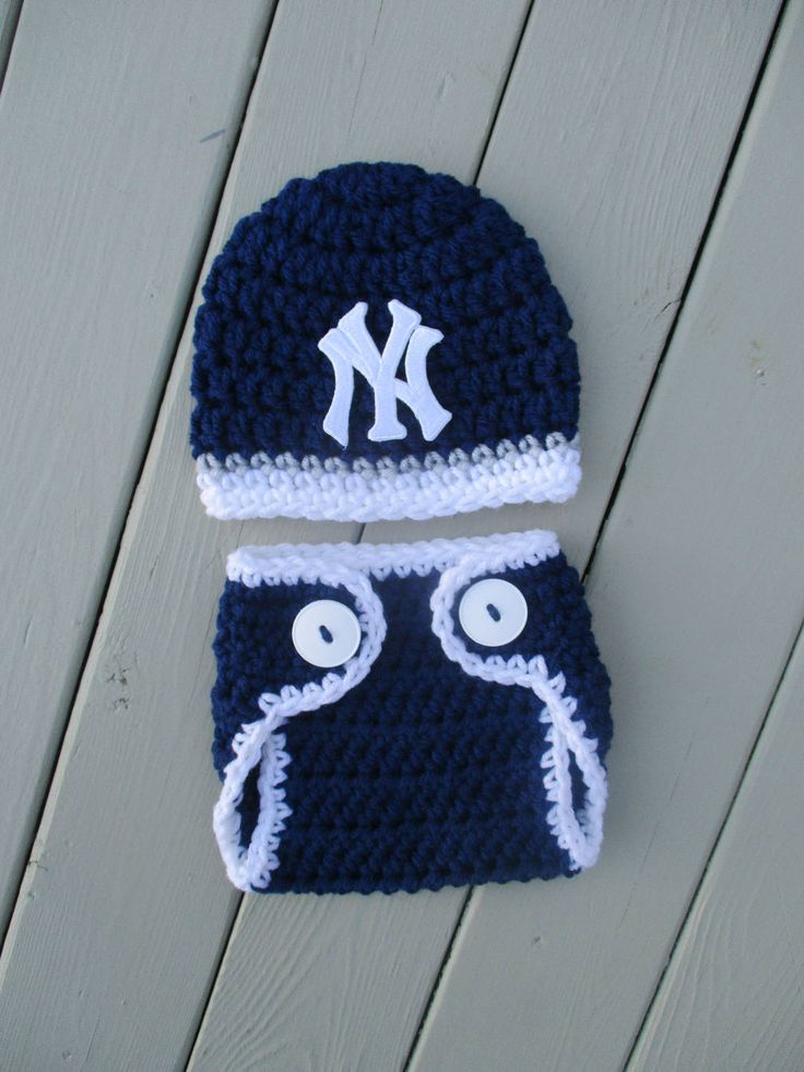 NY Yankees Newborn NY Yankees Outfit Baby Yankees Baby NY Yankees Newborn Boy Baseball Outfit Photo Prop Set 10% Off Use Code GKKCROCHET17 by gkkcrochet on Etsy
