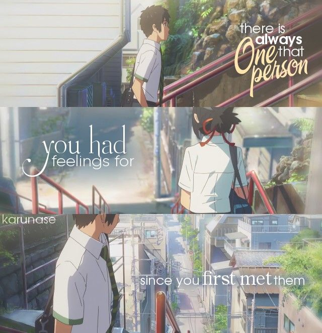 """There's always that one person you had feelings for since you first met them.."" 
