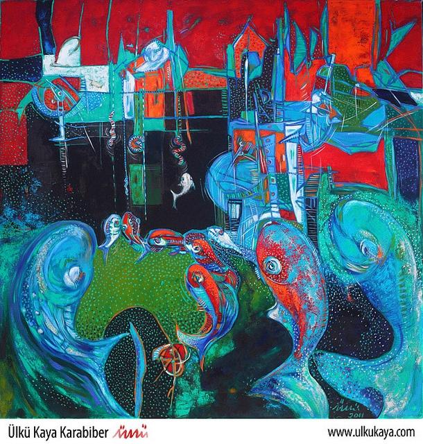 Fish 002 by Ülkü Kaya Karabiber  UlkuKaya.com