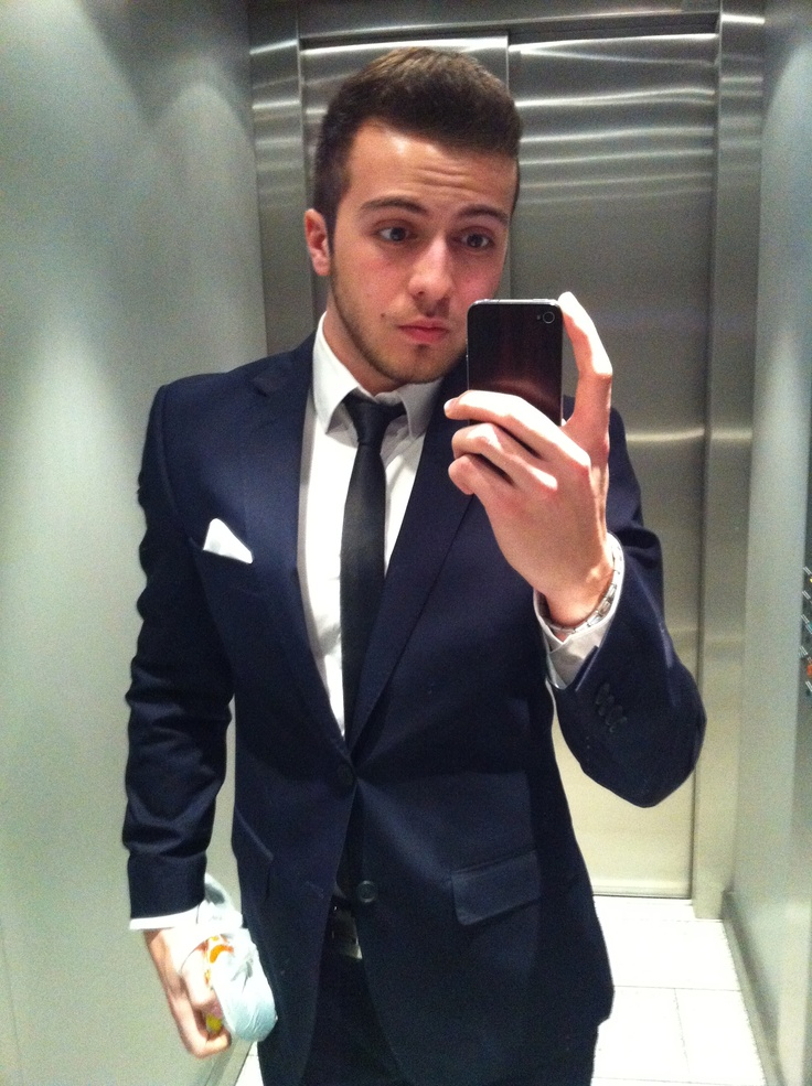 image black tie with navy blue suit