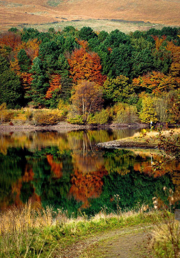 Piethorne Reservoir at Rochdale - Lancashire, England