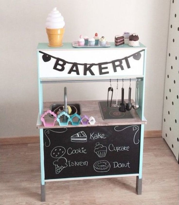 mommo design: IKEA HACKS FOR KIDS - great idea for tildas kitchen x