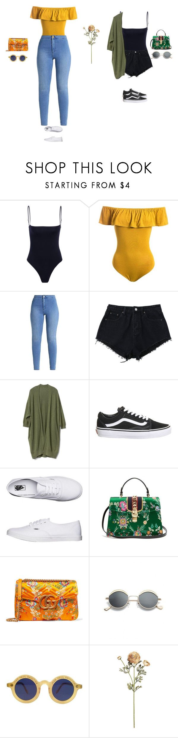 """double trouble"" by xoxotiffvni on Polyvore featuring Sans Souci, Gap, Topshop, Vans, Gucci and Jean-Paul Gaultier"