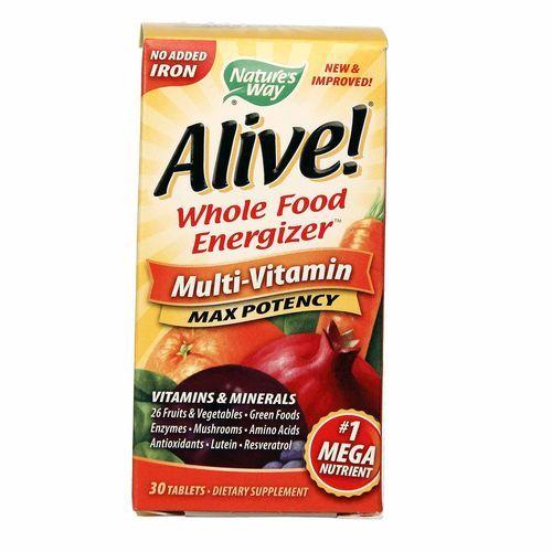 Καλύτερη τιμή στην Ελλάδα Nature's Way Alive! Μέγιστη ισχύς 30 Tabs από eVitamins.com.  βρίσκω Alive! Max Potency σχόλια, τις παρενέργειες, κουπόνια και άλλα από eVitamins. Γρήγορη και αξιόπιστη αποστολή στην Ελλάδα. Alive! Max Potency και άλλα προϊόντα από Nature's Way για όλες τις ανάγκες της υγείας σας.