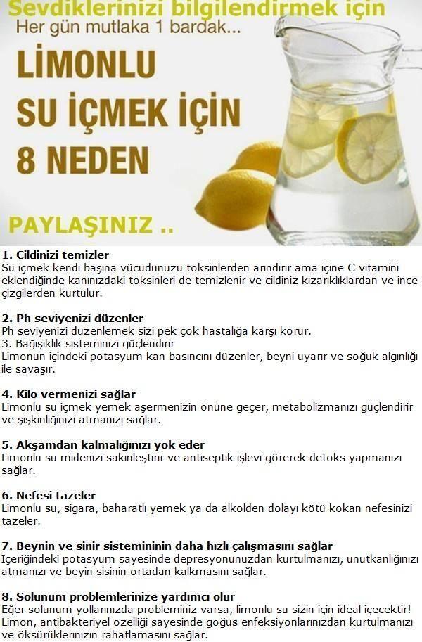 Limonlu su içmenin yararları #  drink water with lemon