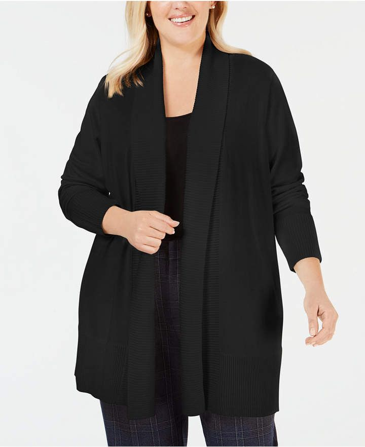Plus Size Cardigan Sweater, Created for Macy's 3