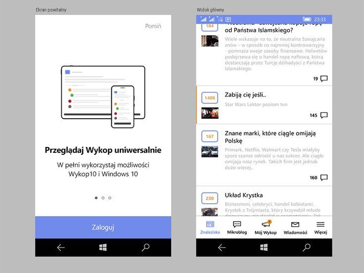 Windows 10 Mobile's app design by Konrad Kalemba