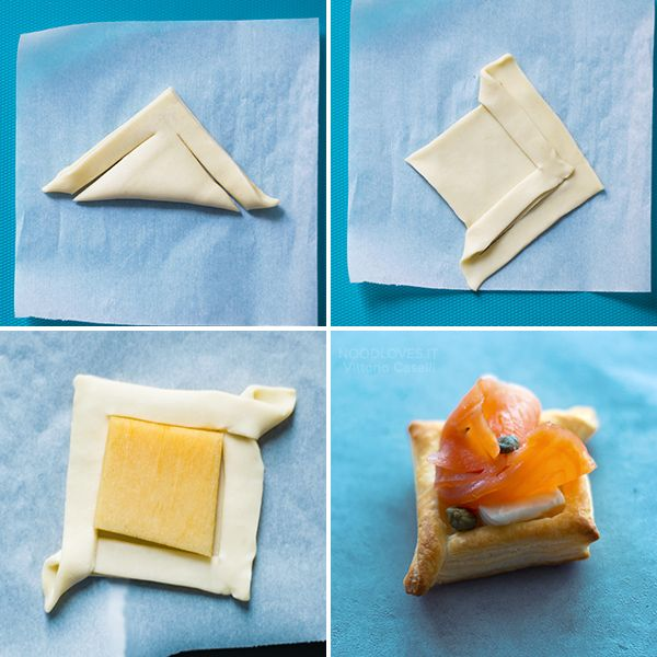 Puff pastry appetizers ideas, for an original and yummy buffet! Finger food recipes (vegetarian, gluten free, smoked salmon, mushrooms and meat...) // party recipe ideas, christmas menu, caprese, savory mini tart, puff pastry cannoli // Antipasti con pasta sfoglia veloci e originali, per ogni ospite! // menù di natale, ricette per feste, facile e veloce, tutorial