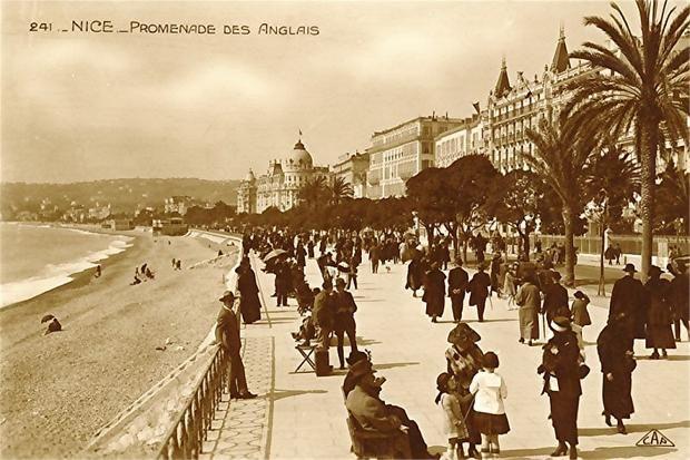 Old Postcard, France, Nice, Promenade des Anglais