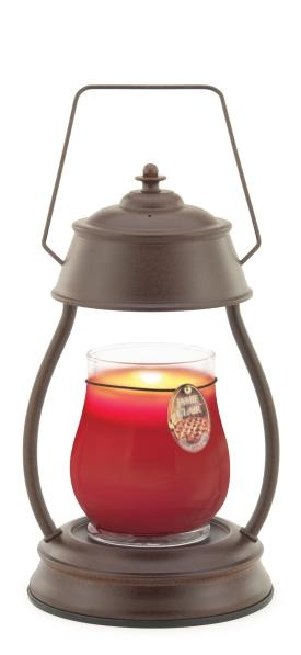 Rustic Lantern Warmer  Melts candles or wax melts from the top using a 25 watt halogen bulb.