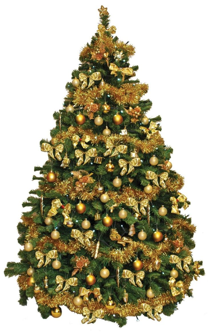 15 best gold christmas decorations images on pinterest for Gold christmas tree lights