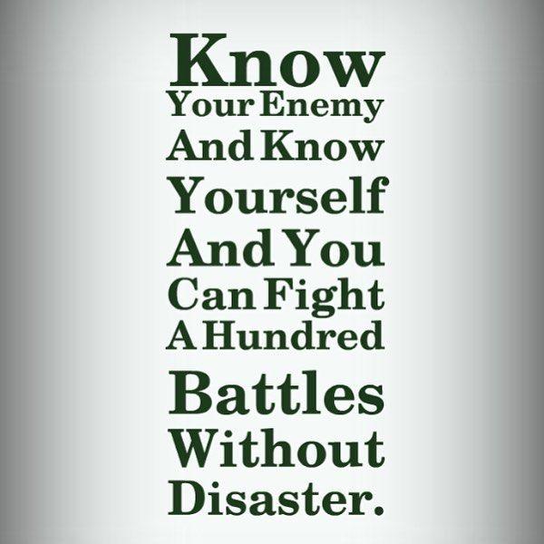 今日の #格言 和訳:彼を知り己を知れば百戦殆うからず 孫子  私の好きな言葉の一つです  これは戦争の諺ですが色んな事に例えれます仕事ダイエット人生自分自身のレース(戦い)とか  体は資本です自身の事一番分かっているようで意外と分からない事も多いいものです誰かに例えば専門家に言われて始めてハッと気付く事も多いいものです予防は治療に勝る自分の事忙しすぎて自分自身をないがしろになりやすいからこそ自分自身を見つめてケアしてあげれば自然と効率も上がるものです  #今日の格言 #proverb  #予防  #ヨガ #ピラティス #コンディショニング #メンテナンス #筋トレ #トレーニング #インナーマッスル #コアトレ #体幹 #パーソナル #ボディビルディング #ボディメイク #肉体改造 #筋肉 #マッチョ #ワークアウト #モチベーション #新橋 #大門 #浜松町
