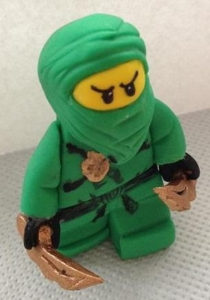 Lego ninjago figurine tutorial. I know its done in FOOD but this is the cutest tutorial for CLAY too!!