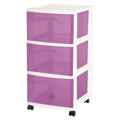 Sterilite 3 Drawer Cart Pink Home Pinterest Purple