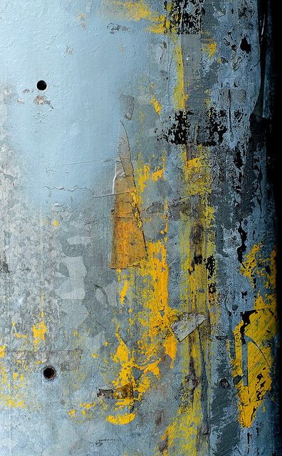 gray & yellow abstract (sans titre by carol murray) #art