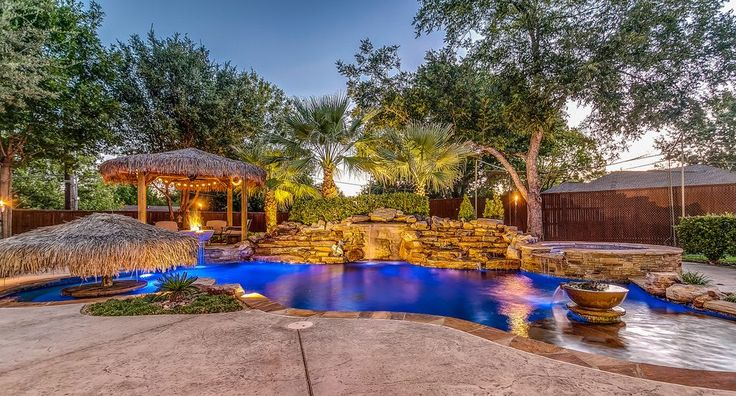 tropical pool landscaping pool tropical with natural stone patio tropical fire pits