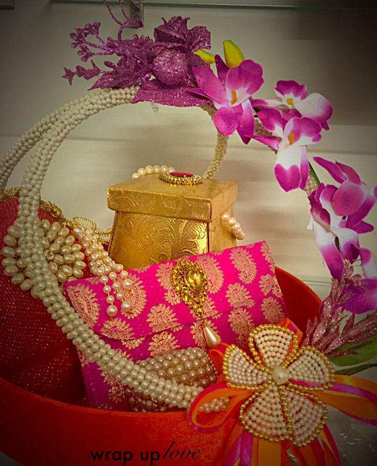 Complete wedding hamper for beautiful brides by wrap up love. for appointments and inquiries call us on 7574863830