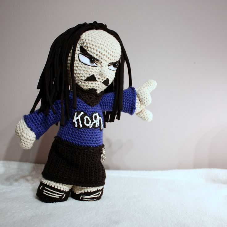 Amigurumi Jonathan Davis  #amigurumi #amigurumis #doll #JonathanDavis #korn #crochet #szydełkowy #artist #rock
