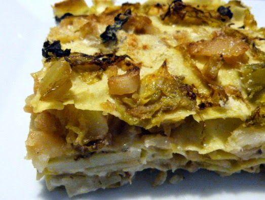 Il pennello di cioccolato: Lasagna con verze, patate e tartufo nero.