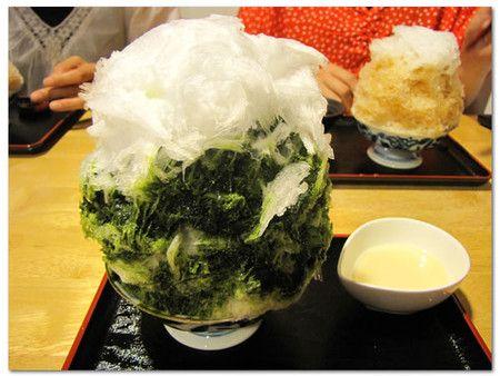 しもきた茶苑大山 喫茶室(下北沢) かき氷(抹茶・ほうじ茶)。凄過ぎだろ(笑)