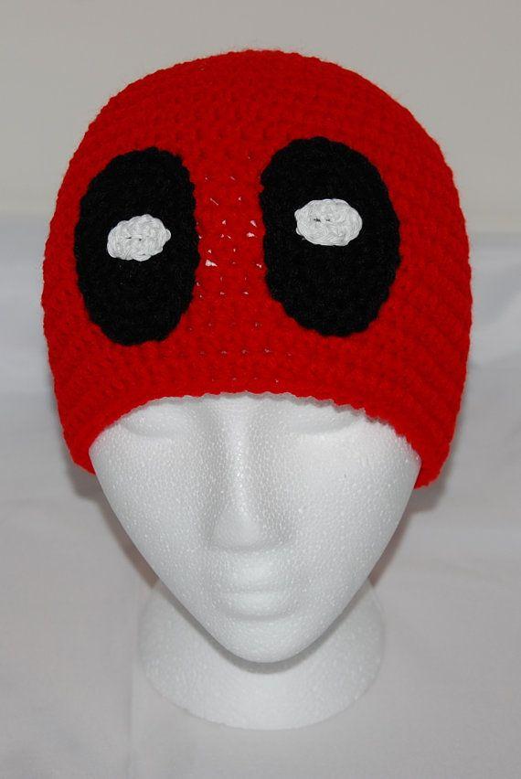 Crochet Deadpool Hat