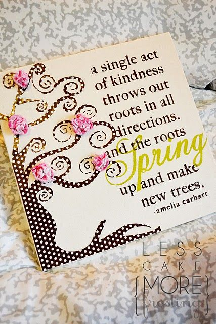 A pretty spring tree canvas. ~ Mod Podge Rocks!