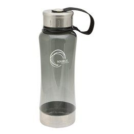Ideal for indoor or outdoor use. This lightweight, near-unbreakable bottle is designed to go the distance. Made from high-tech stain and odour resistant polycarbonate and featuring Stainless Steel trim. Available in translucent charcoal and deep blue.