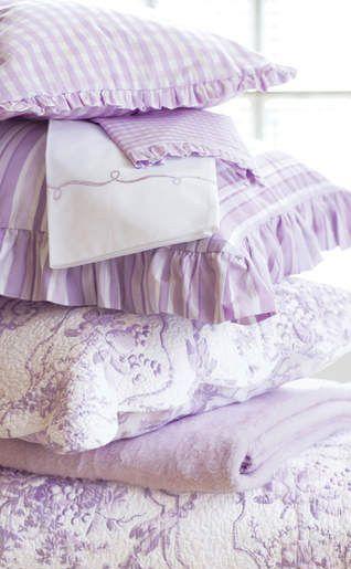 purple and white bedding                                                                                                                                                                                 More