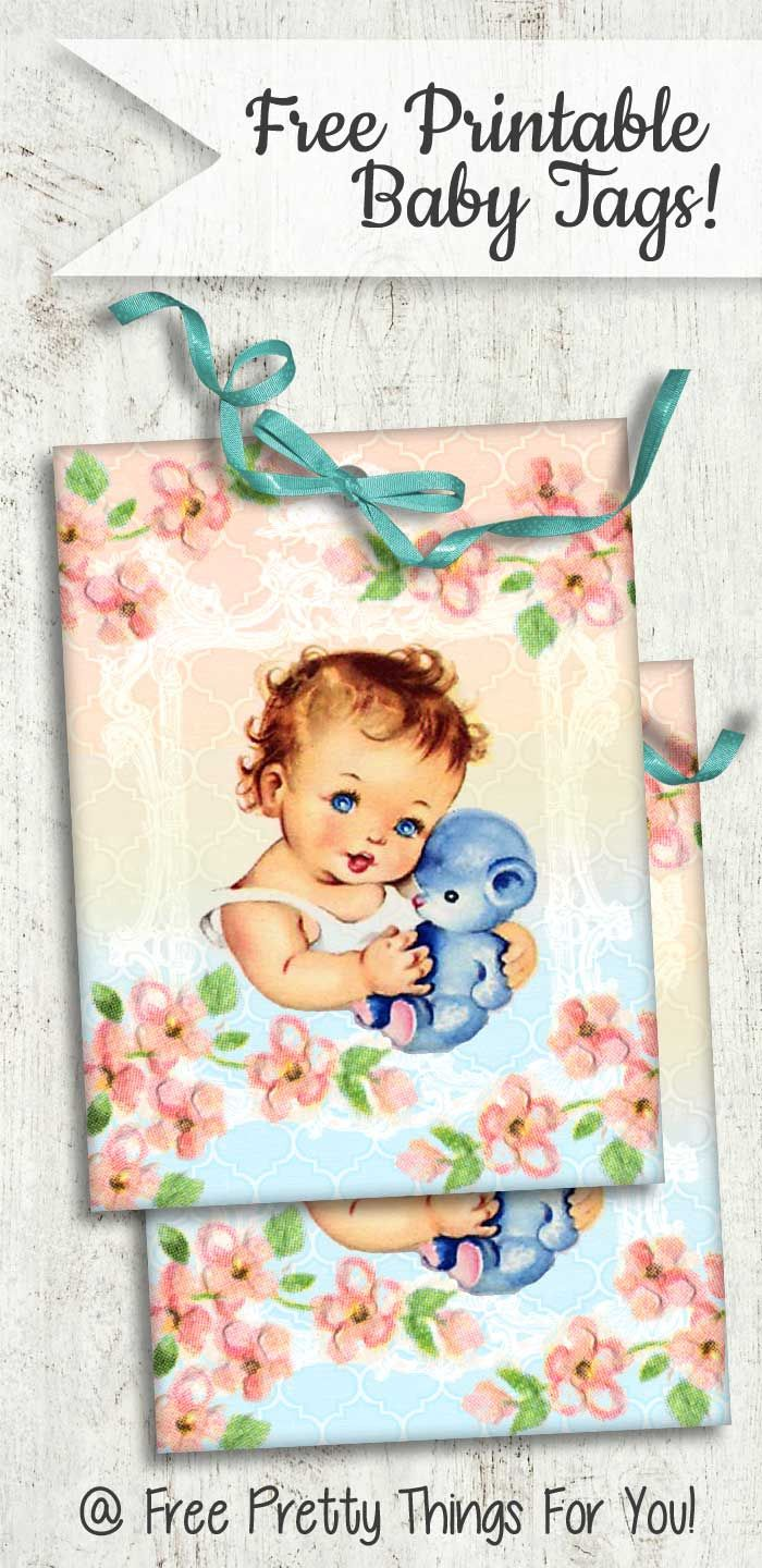 Free Gorgeous Baby and Teddy Bear Printable Tags!