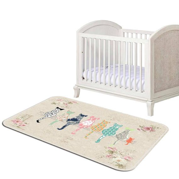 Play Mat Cat Nursery Rug Floor Playroom Bedroom Area Kids Tod