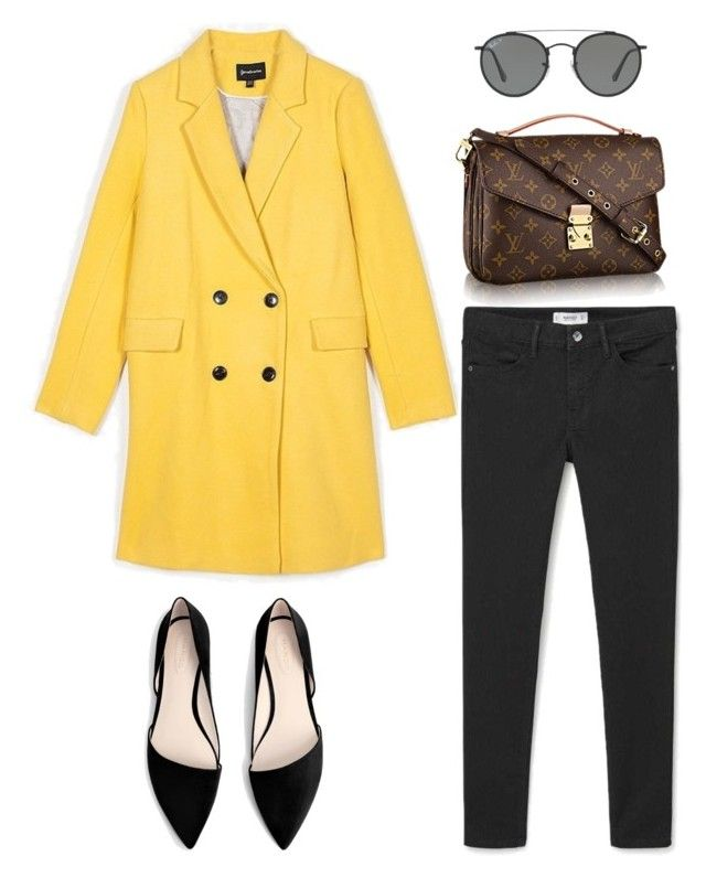 """""""cold spring"""" by aboutmetheblog on Polyvore featuring MANGO and Ray-Ban"""