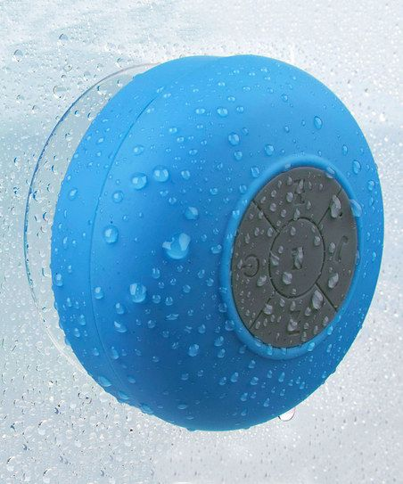 So you can sing in the shower. (This might be a dream come true for me.) :: Blue Bluetooth Shower Speaker