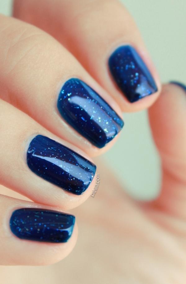 Cirque Tibetan night: Nails Art, Tibetan Night, Fashion Idea, Fashion Hairstyles, Nails Polish, Nails Idea, Night Sky, Galaxies Nails, Blue Nails