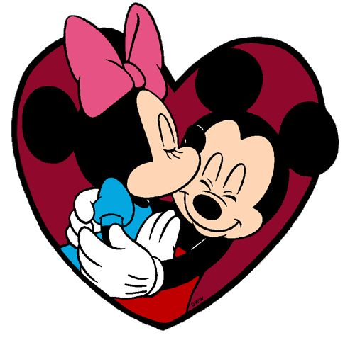 mickey and minnie kissing