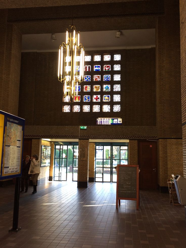Bussum train station. Check out the lovely stained glass. 2014