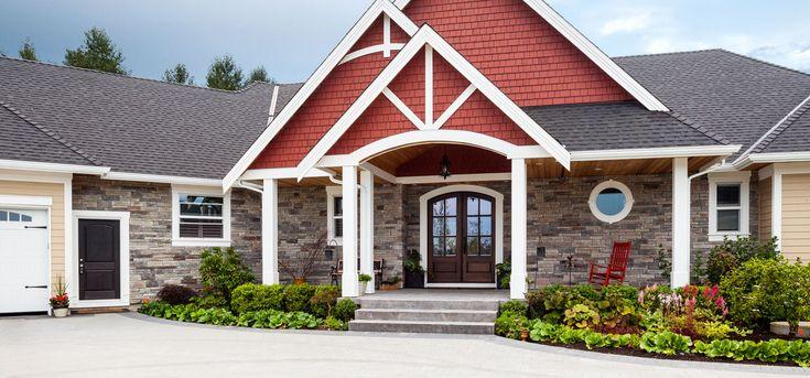 Home Exterior Entrance Echo Ridge Country Ledgestone