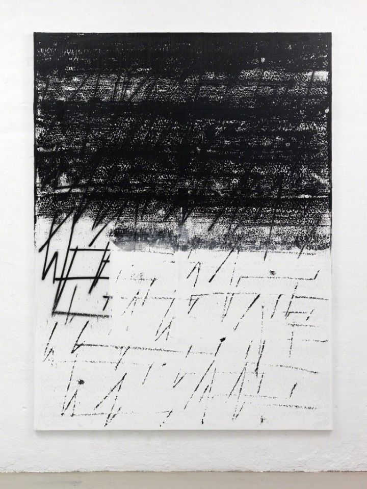 "eccontemporary: ""Chris Succo, Untitled, 2015, silkscreen ink and oil on linen, 230 x 172,5..."
