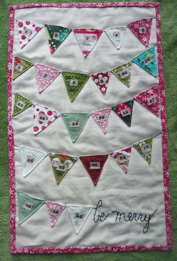 Sewn Advent Calendar Ideas : Sewn christmas bunting advent calendar by shopiheartbaby