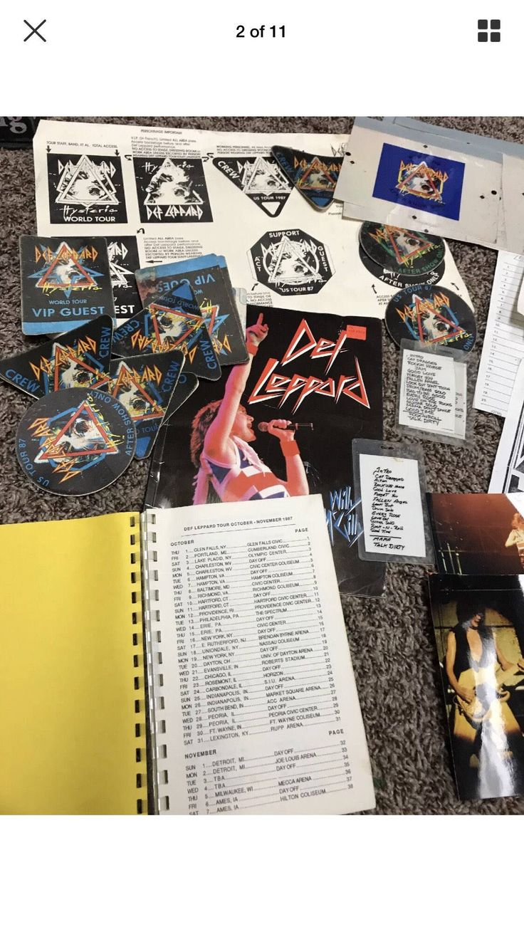Excited to share the latest addition to my #etsy shop: Def Leppard 1987 Hysteria Tour rare bundle
