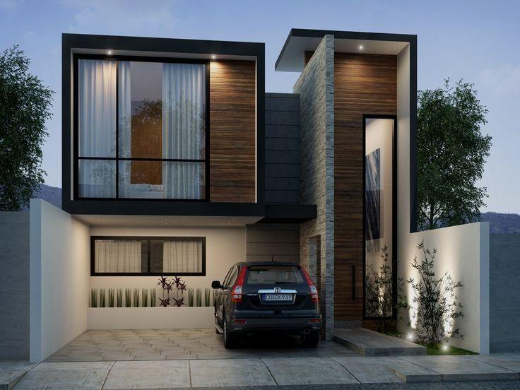 Diseño de casa ecológica de estilo minimalista con consumo
