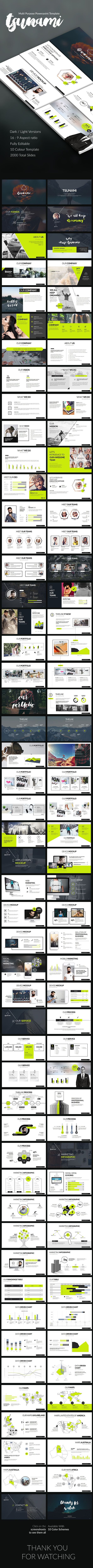 Tsunami Powerpoint Presentation  #creative #magazine • Download ➝ https://graphicriver.net/item/tsunami-powerpoint-presentation/18223050?ref=pxcr