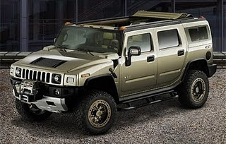 2012 hummer h4 in silver!