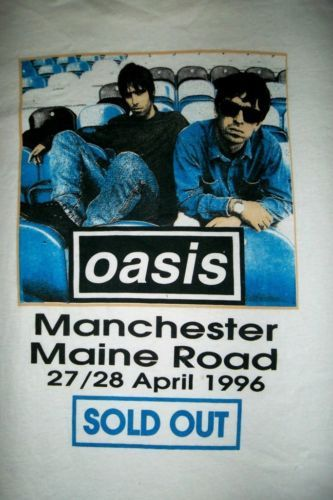 VINTAGE OASIS 1996 WHAT THE STORY MORNING GLORY MAINE ROAD TOUR CONCERT T-SHIRT in Entertainment Memorabilia, Music Memorabilia, Rock & Pop, Artists O, Oasis | eBay