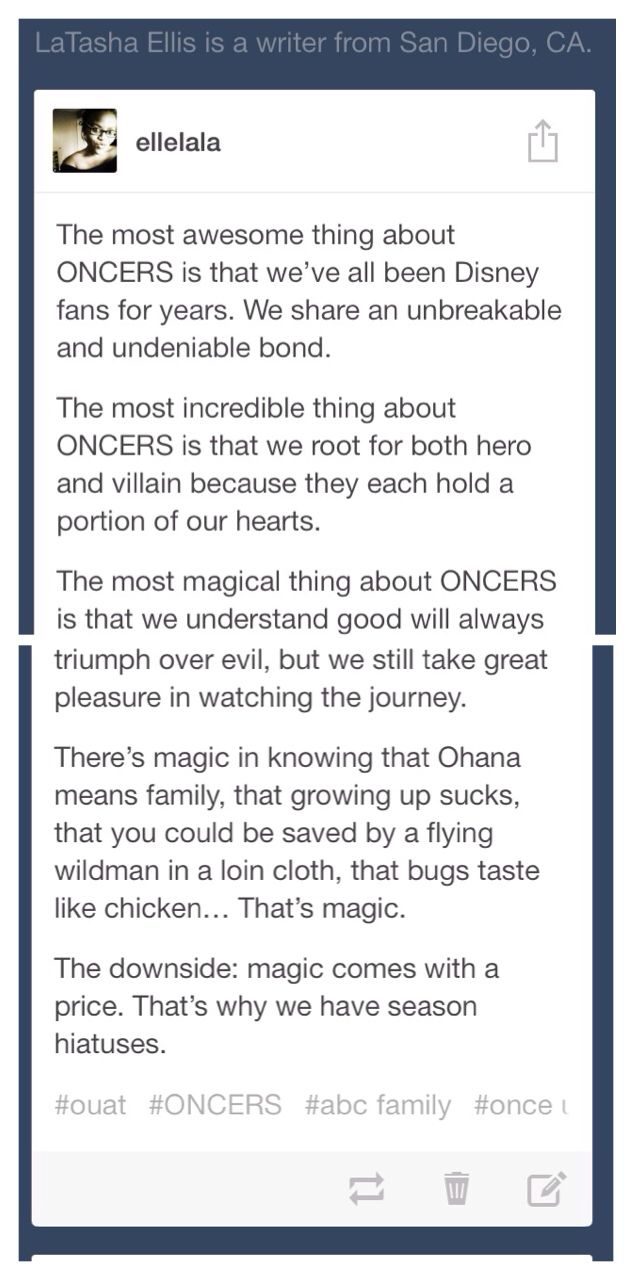 Ouat and wonderful ONCERS